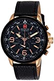 Swiss Military Arrow Men's Watch Black Dial Chronograph Leather Strap 6-4224.09.007
