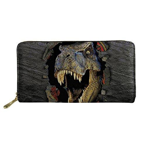 Coloranimal Cool 3D Dinosaur Print Long Wallet Clutch Bag Purse for Women ()