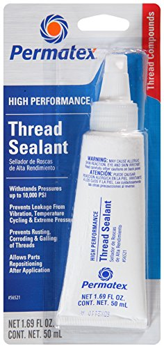 Permatex 56521-6PK High Performance Thread Sealant, 50 ml (Pack of 6) ()