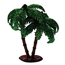 Handmade Plastic Mini Artificial Coconut Trees Craft Garden Decoration DIY Home Decor Purpose 2 pcs
