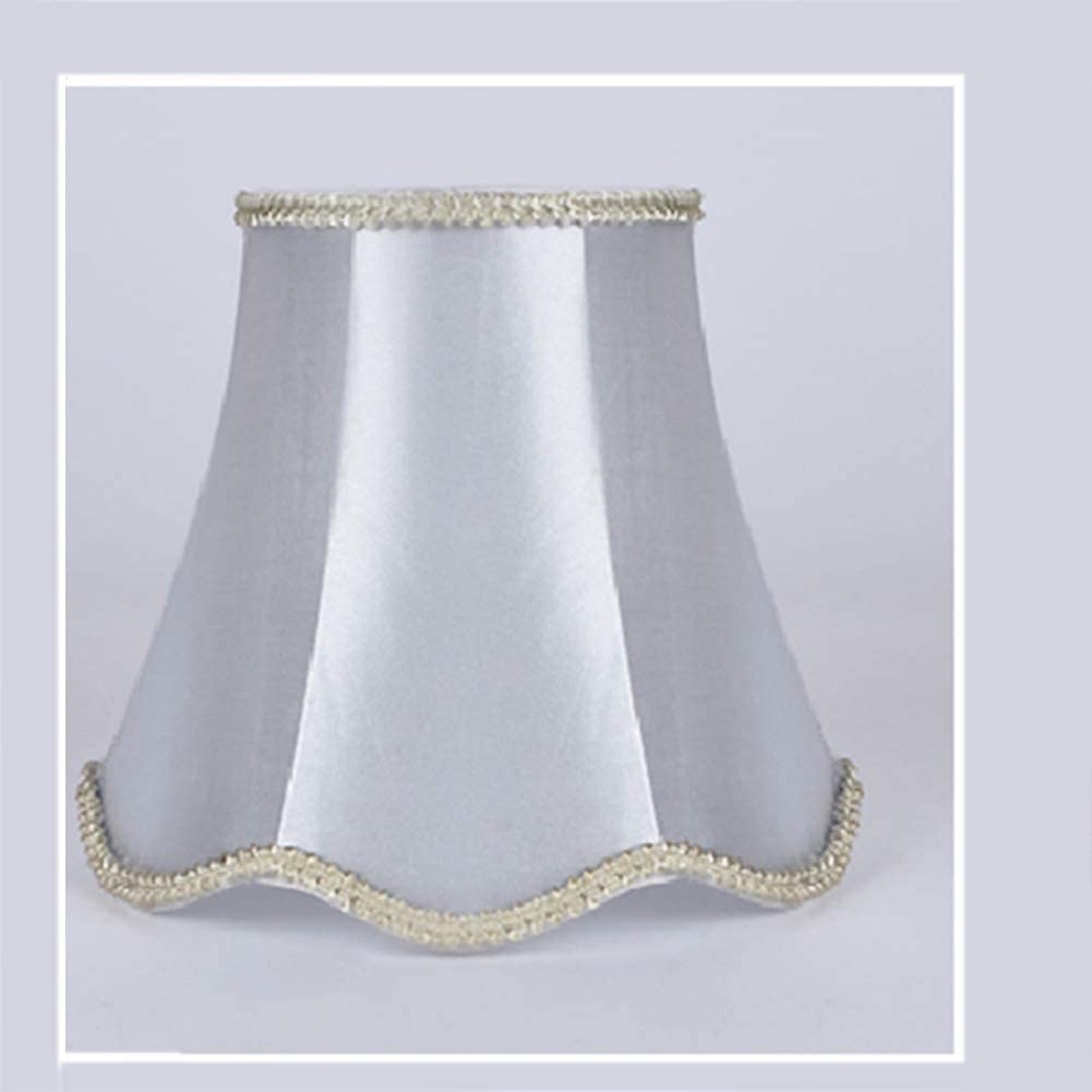 Lampshade,Droplight Wall Lamp Candle Chandelier Wave Bottom Accessories Modern Chandelier Cloth Lampshade,European Style Clip-On Fabric Lampshades for Candle,Droplight,Wall Bulb,Table Lamp 34#