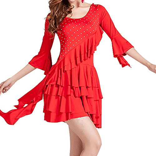 Whitewed Fancy Square Dance Party Dresses Outfit Costumes Clothing Red -