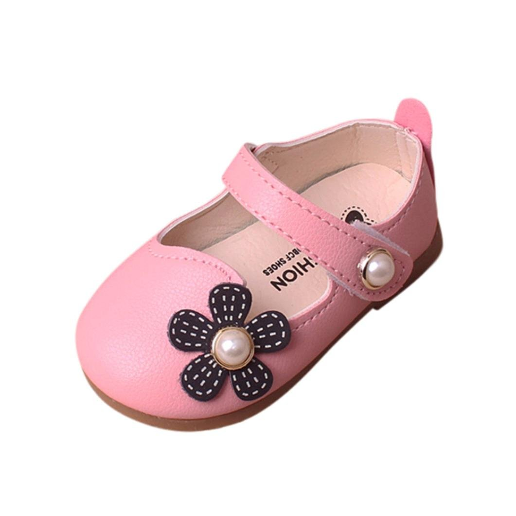 Jinjiu Baby Girl Floral Sandals Children Mary Jane Pricness Crib Shoes