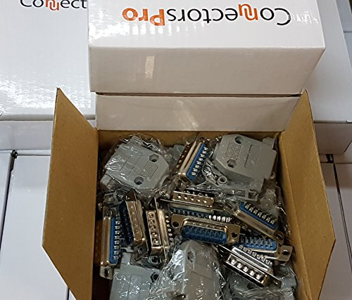 Pc Accessories - Connectors Pro 10 Sets Solder Type DB15 Male and Plastic Hoods, D-Sub Connector + Hoods, 20-Pack (10 DB15 Males + 10 Hoods) (Hood D-sub)