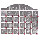 Primitives by Kathy Wooden Advent Calendar with Doors, Chalkboard Design