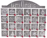 Primitives by Kathy 23700 Christmas Chalk Art Wood Countdown Box For Sale