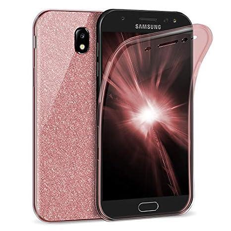 Zhinkarts Handy Hülle für Samsung Galaxy J5 2017 (J530) - Full Body 360 Grad TPU Silikon Crystal Case - Komplett Schutzhülle