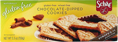Schar Cookies Gluten Free Chocolate-Dipped -- 5.3 oz (Pack of 3) (Dipped Cookie)