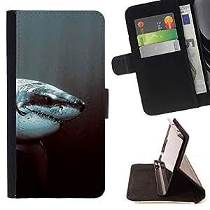 Momo Phone Case / Flip Funda de Cuero Case Cover - Tiburon blanco;;;;;;;; - Sony Xperia Z3 Compact