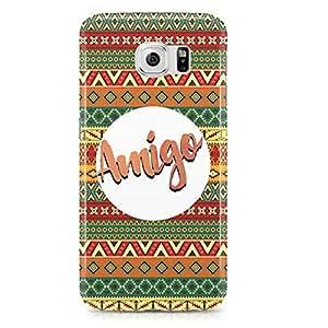 Samsung Galaxy S6 Edge Case Amigo-Light Weight Clear Edges Wrap Around Phone Cover