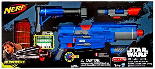 Star Wars Rogue One NERF Captain Cassian Andor Deluxe Blaster Exclusive Roleplay -