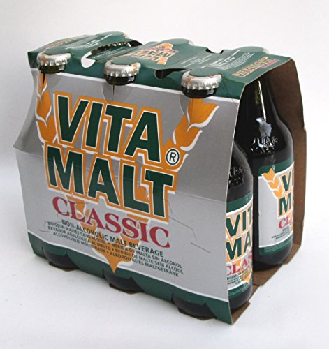 Non Alcoholic Beer Made (Vitamalt:Vitamalt Non Alcohol Malt Beer Taste Beverage 33cl (11oz) Pack of 6 [ Italian Import ])