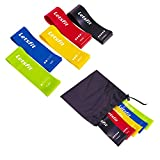 "Letsfit Resistance Loop Bands, Resistance Exercise Bands for Home Fitness, Crossfit, Stretching, Strength Training, Physical Therapy, Natural Latex Workout Bands, Pilates Flexbands,12"" x 2"""