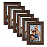 Cheap DesignOvation Kieva Solid Wood Picture Frames, Distressed Espresso Brown 4×6, Pack of 6