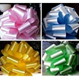 10 x 50mm Florist Craft Pull Bows (Assorted Colours). Floral Tributes / bouquets / Gift decoration / Weddings