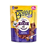 Purina Beggin' Strips Bacon & Beef Flavors Dog Treats – (4) 25 Oz. Pouches Review