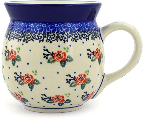 Polish Pottery Bubble Mug 16 oz Pasadena Delight (Beautiful Pottery Mugs)