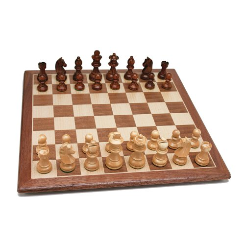 WE Games French Staunton Chess Set - Weighted Pieces & Walnut Wood Board 14.75 in.