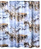 Wolves Crossing Polyester Shower Curtain