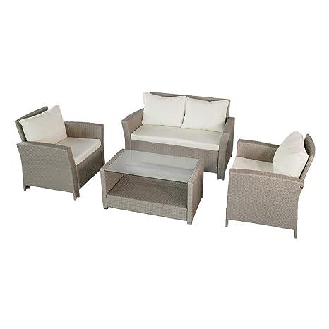 Aktive 61012 Set muebles jardín en ratán