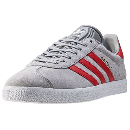 Adidas Originals Trainers - Adidas Originals Gazelle J Shoes - Clear Onix/Red/Gold Metallic