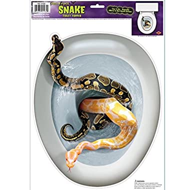 3 New Halloween Snake Toilet Topper Peel 'N Place Party Accessory