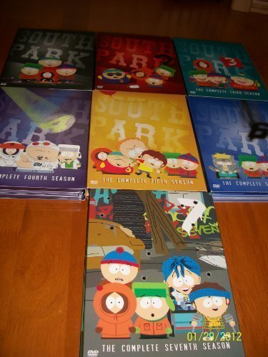 South Park the Complete First, Second, Third, Fourth, Fifth, Sixth, Seventh Seasons by