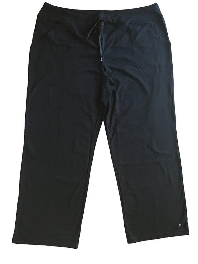 Danskin Now Women's Plus-Size Dri-More Core Relaxed Fit Workout Pant - 2X plus - Black