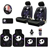 New Design 12 Pieces Nightmare Before Christmas Jack Skellington Car Truck SUV Seat Covers Floor Mat Set with a Little Tree Air Freshener