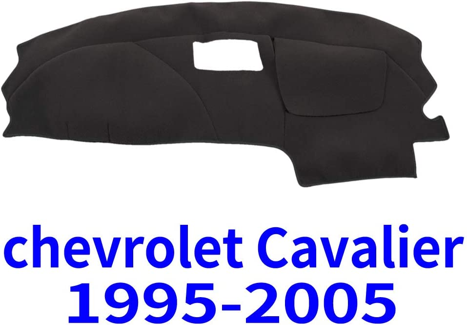 JIAKANUO Auto Car Dashboard Carpet Dash Board Cover Mat Fit for Chevrolet Cavalier 1995-2005 (Black)(MR-046)