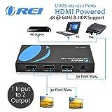 OREI UltraHD 4K @ 60 Hz 1 x 2 HDMI Splitter 1 in 2 Out 2 Port 4:4:4 8-bit - HDMI 2.0, HDCP 2.2, 18 Gbps