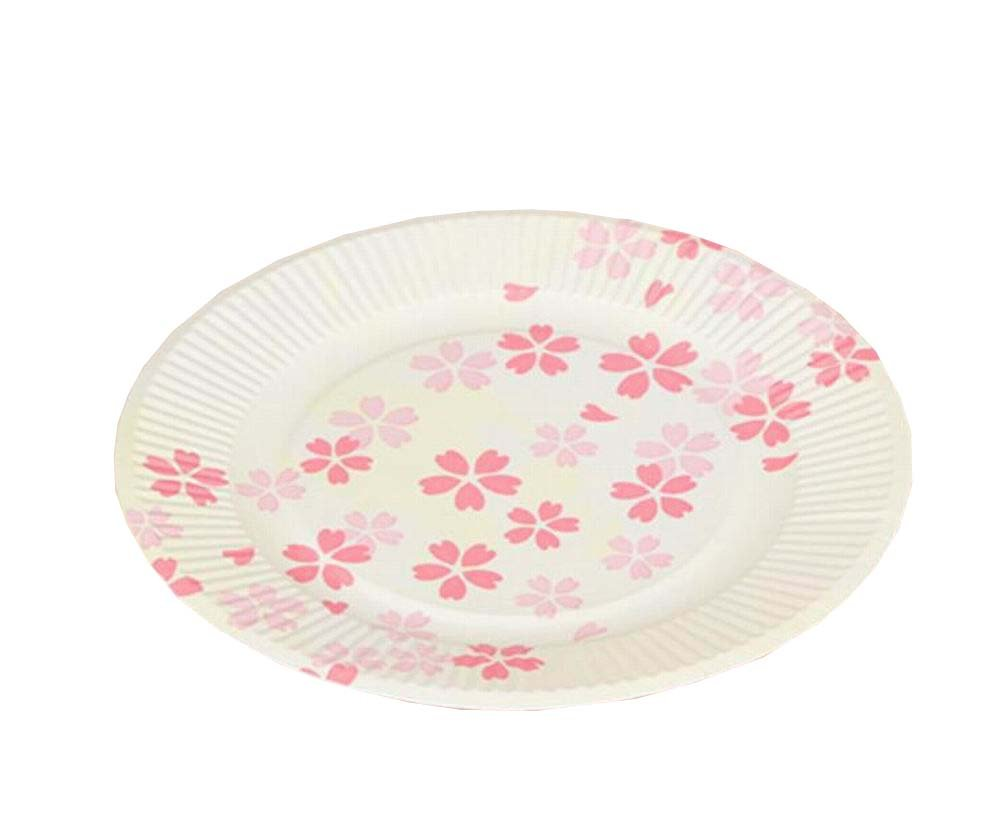 Set of 40 Beautiful Sakura Disposable Paper Plates Cake/Fruit Serving Supply
