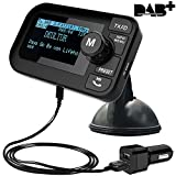FirstE Car DAB/DAB+ Radio Portable Bluetooth FM Transmitter 2.3' Big LCD Car Kits Crystal Sound - Play Micro SD/TF Card(64G) +Handsfree Call+5V 2.1A/1.0A Dual USB Ports+ 3M Antenna+3.5mm Aux Output