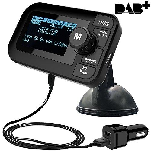 FirstE 5 in 1 Car DAB/DAB+ Radio Portable FM Transmitter (Crystal Digital...