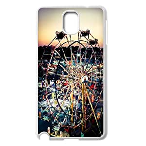 Diy Ferris Wheel Phone Case for samsung galaxy note 3 White Shell Phone JFLIFE(TM) [Pattern-2]