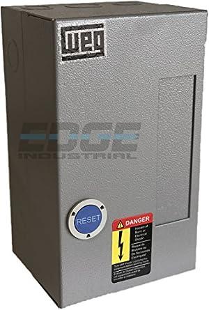 WEG MAGNETIC STARTER FOR ELECTRIC MOTOR AIR COMRPESSOR 7.5HP 1 PHASE on