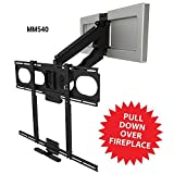 """MantelMount MM540 Pull Down TV Mount Above Fireplace For 44""""-80"""" TVs Over Mantel"""