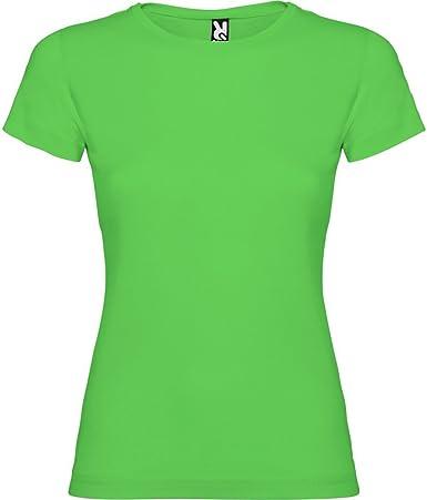 Camiseta Verde para Mujer, Manga Corta, 100% algodón: Amazon.es: Ropa y accesorios