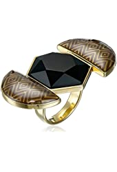 House of Harlow 1960 Gold-Plated Hexagon Ring