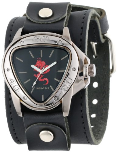 Red Dragon Leather Cuff Watch
