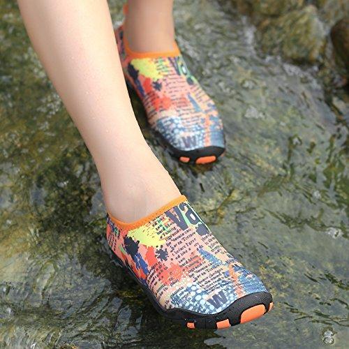 Wasserschuhe Mens Womens Beach Swim Schuhe Quick-Dry Aqua Socken Pool Schuhe für Surf Yoga Wassergymnastik Kritzeln