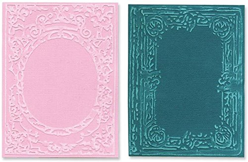 Sizzix Texture Fades A2 Embossing Folders by Tim Holtz, Book Covers, 2-Pack