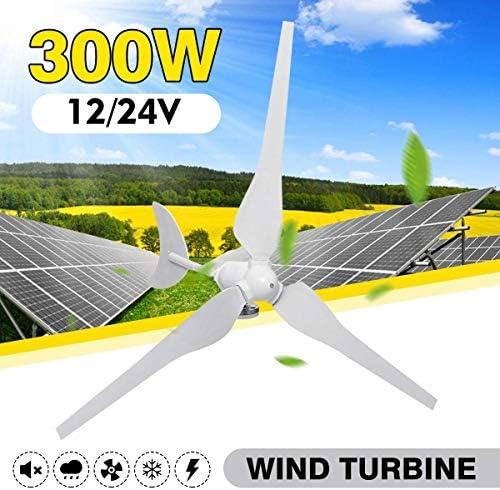 CTO 12V / 24V Wind-Turbinen-Generator 300W 3 Blades Horizontale Windgenerator mit Controller-Windmühle Energieturbinen Gebühr für Hauptsonnenstreet, Boot,24V