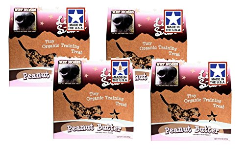 Wet Noses Little Stars Organic Dog Training Treat - Peanut Butter -9oz (4 Pack) (Wet Noses Training Treats compare prices)