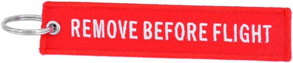 1/pcs Kingnew /étiquette de bagage populaire Rouge enlever avant Vol brod/ée fl/èche Porte-cl/és