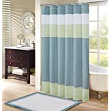 Comfort Spaces Windsor Shower Curtain Aqua