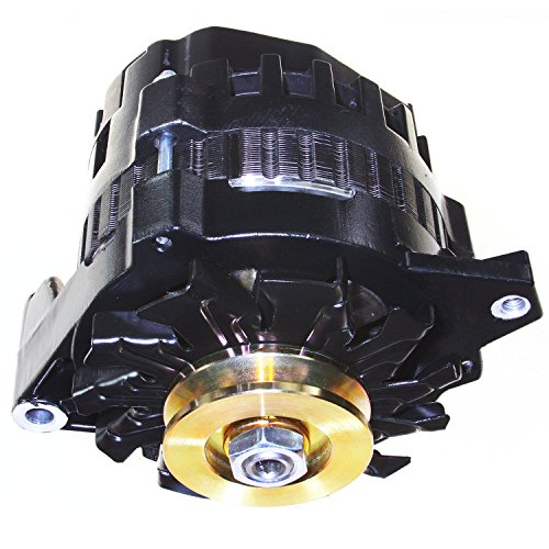 NEW BLACK HIGH OUTPUT ALTERNATOR FITS CHEVY GM 220 AMP 1-WIRE 65-85