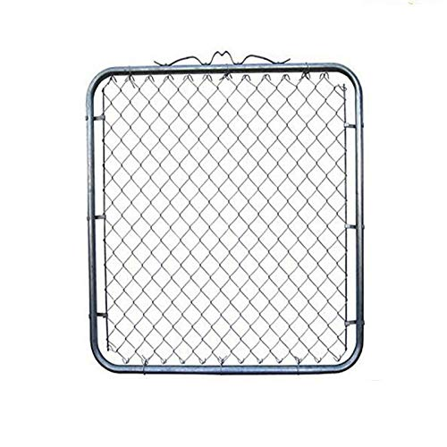 (MTB Galvanized Chain Link Garden Fence Gate 50-inch Overall Height 48 inch Frame Width (Fit a 52-inch Opening) 1 Pack,Walk Through Farm Gate)
