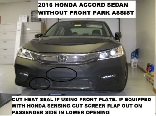 Lebra 2 piece Front End Cover Black 2016-2017 Honda Accord sedan Fits Car Mask Bra without front park assist