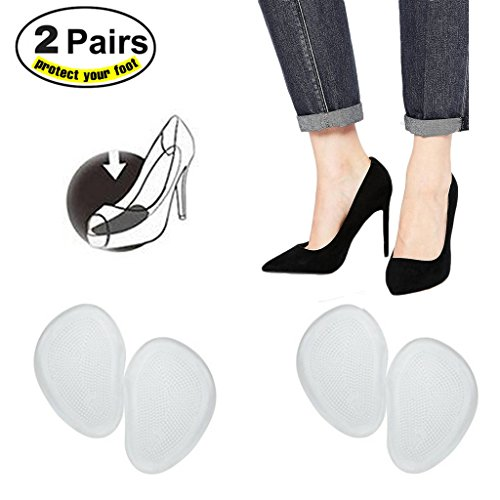 Slim Metatarsal Ball Of Foot Inserts High Heels Feet Reusable Silicone Transparent Gel Insole Cushion Pads Cups Protectors (5 Pairs)